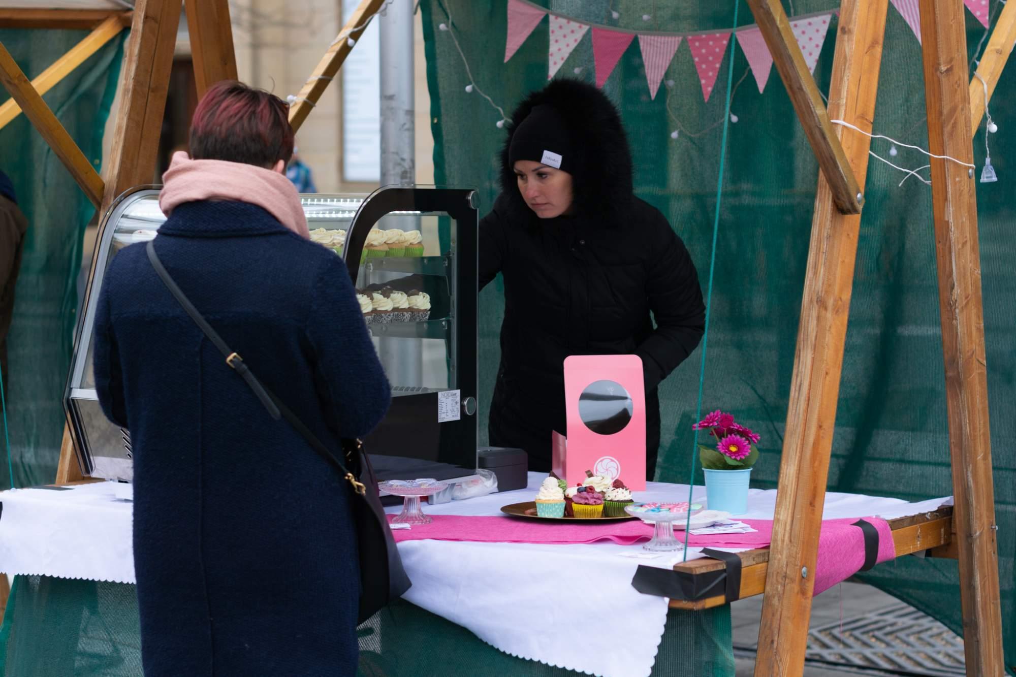 Jedním z prodávajících byla také Cupcakekárna. Foto: Anna Viktorinová