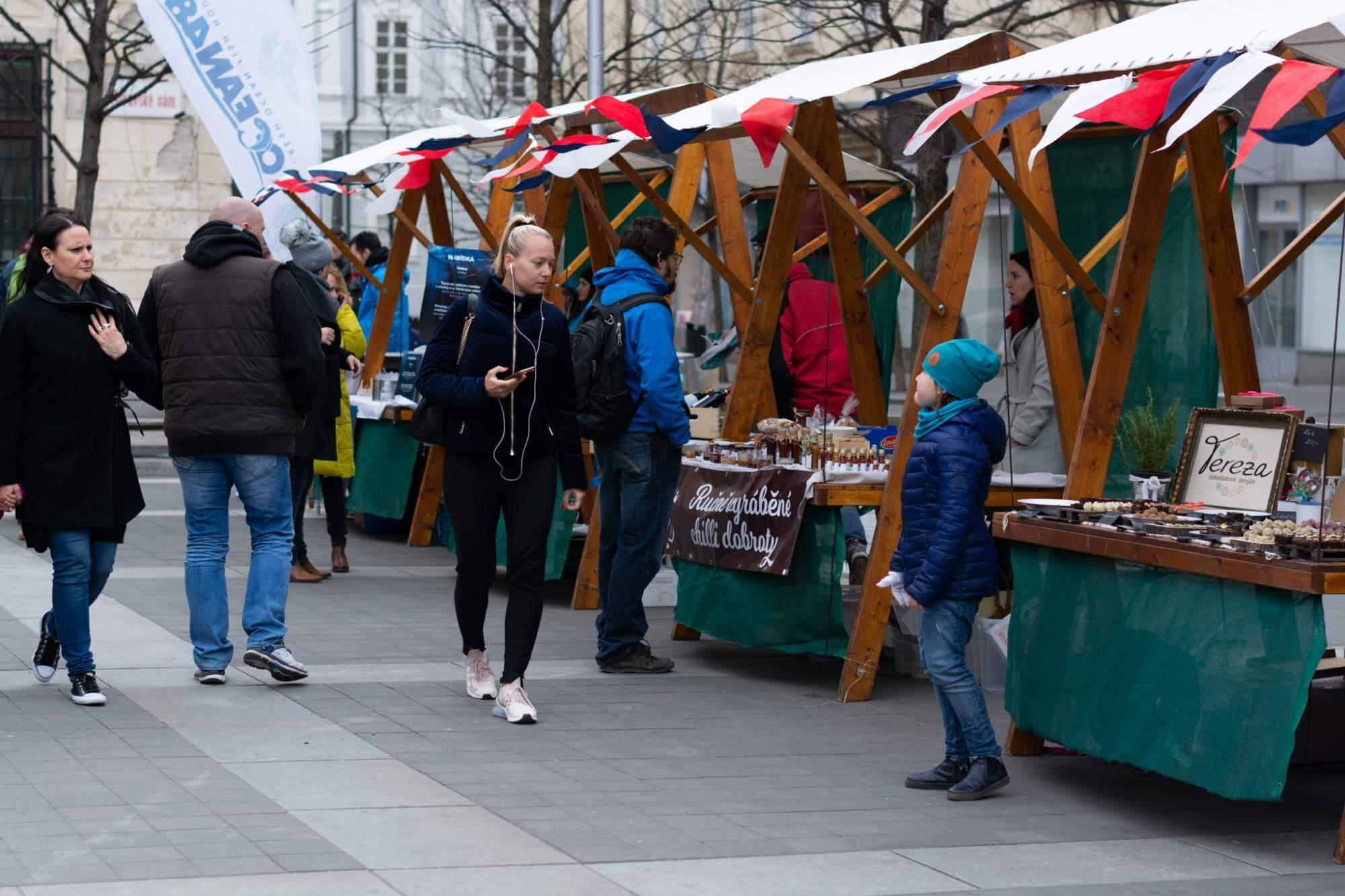 Trh se koná v rámci festivalu Bonjour Brno. Foto: Anna Viktorinová