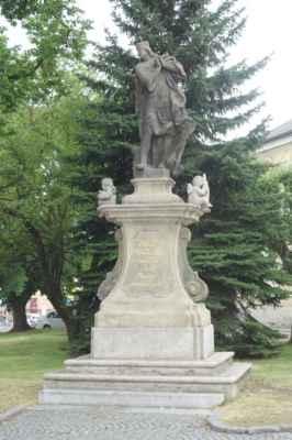 Socha sv. Václava - tentokrát ve stylu vrcholného baroka.