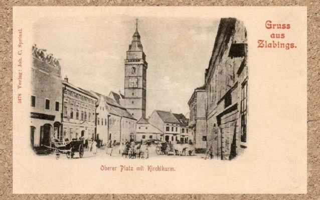 r. 1898_Horní náměstí Slavonice