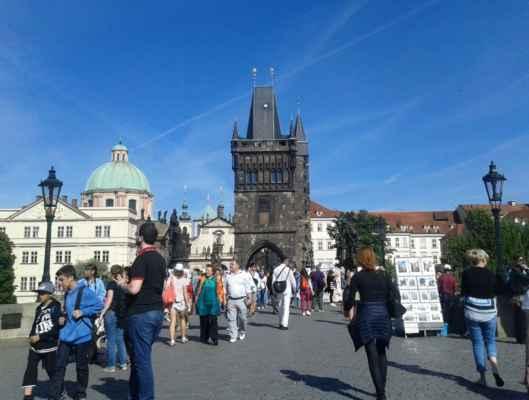 Praha - Staroměstská mostecká věž - pohled z Karlova mostu