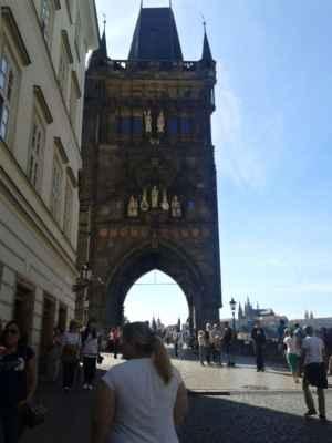 Praha - Staroměstská mostecká věž - pohled z Křížovnického náměstí