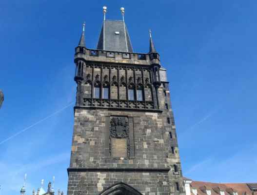 Praha - Staroměstská mostecká věž 09 - pohled z Karlova mostu