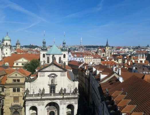 Praha - Staroměstská mostecká věž 10 - výhled z věže na Prahu