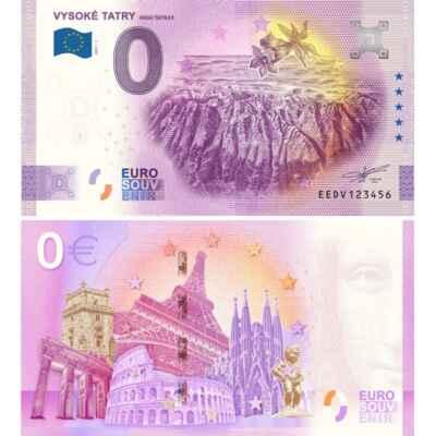 Euro Souvenir Slovensko 22.júl - Pozeral som sa n tu FB stranku a to vytlačili nie len celé Slovensko, ale aj z Českej republiky vybrali nejaké mesta a kultúrne pamiatky. Našiel som tam aj túto bankovku Vysoké Tatry.  Podmienky predaja vydania VYSOKÉ TATRY Predajná cena: 3,- € / ks Miesto predaja: MESTSKÁ INFORMAČNÁ KANCELÁRIA POPRAD  A klikni si tu pre viac informácii : https://eurosouvenir.sk/