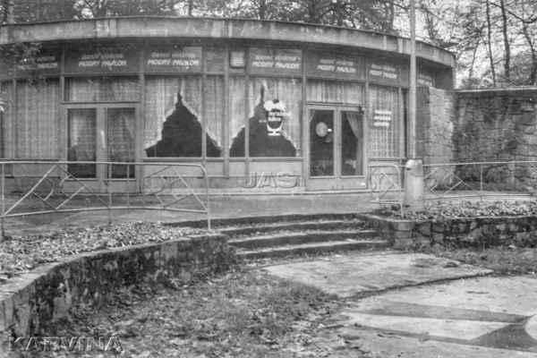 1987- Denní vinárna Modrý pavilon v parku B. Němcové, Karviná-Fryštát, FOTO: Jan Szturc