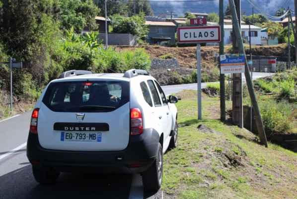 městečko Cilaos nás vítá