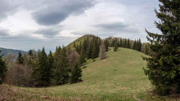 Príslopok a za ním vrchol Prostej