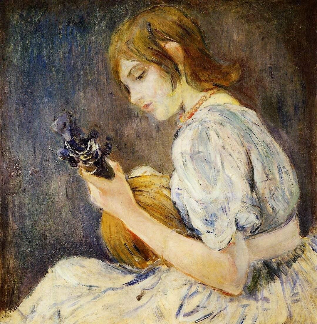The Mandolin- Berthe Morisot. Date: 1889