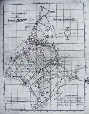 MAPA domů z r. 1936 - Území Ostašov a Karlinky