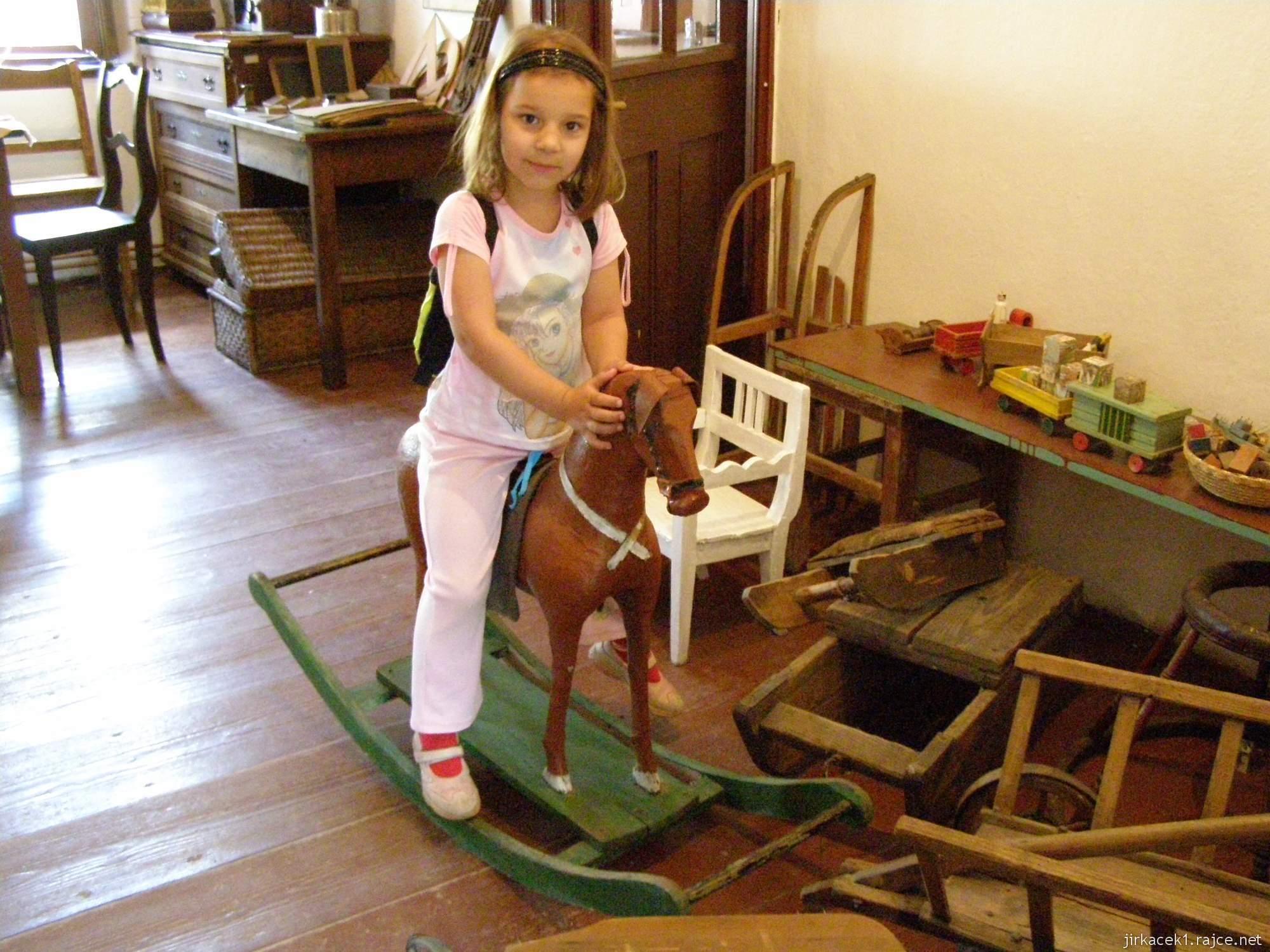 Hanácké skanzen Příkazy - exponáty - sbírka hraček