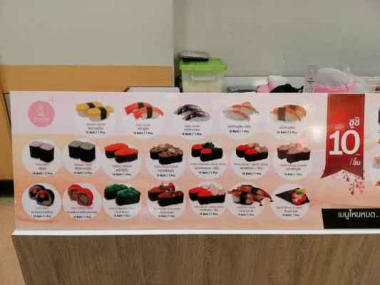 Jednotlivé názvy sushi