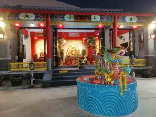 Nad restauraci je čínský pavilon.