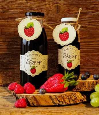Tekuté ovoce v lahvi, zdravý malinový sirup. 100% ovoce a nic víc. Samozřejmě bez chemie a bez přidaných cukrů: https://www.slaskoukjidlu.cz/malinovy-sirup/