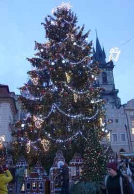 Vánoční strom je krásný, ale jinak celkovou atmosféru vánočních trhů hodnotím jako naprostou šílenost. Tenhle mumraj, ve kterém si člověk tak akorát hlídá batoh, 4leté dítě a ostré lokty turistů v nás rozhodně žádnou vánoční náladu nevzbudil. Při cenách od 99 Kč výše přejde chuť i na vánoční punč a další občerstvení.