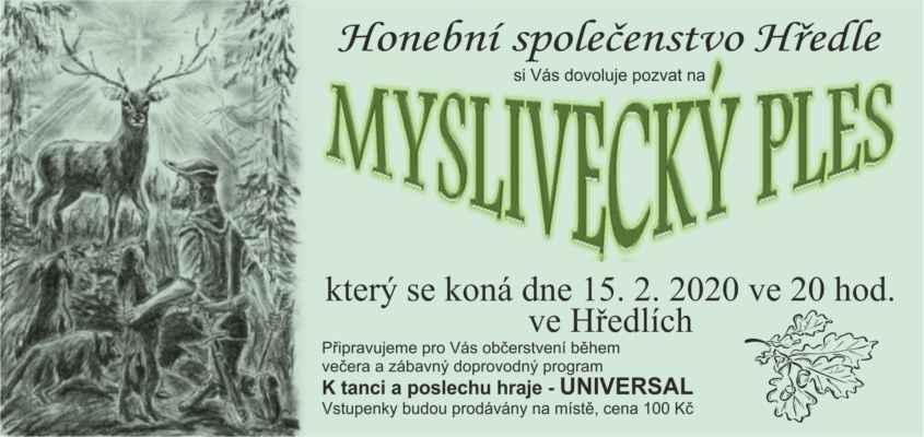 15.02.2020 Myslivecký ples 2020 Hředle u Rakovníka ... Facebook Hředle: http://www.facebook.com/groups/hredle