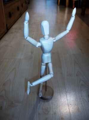 wooden athlete, wooden dancer, wooden model, wooden lover