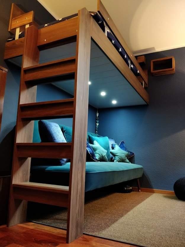 Patrová postel rohová