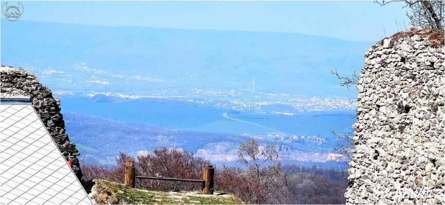 pohled na Teplice, ale viditelnost je mizerná....